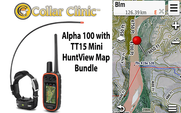 Garmin Alpha 100 with TT15 Mini and HuntView Map Plus