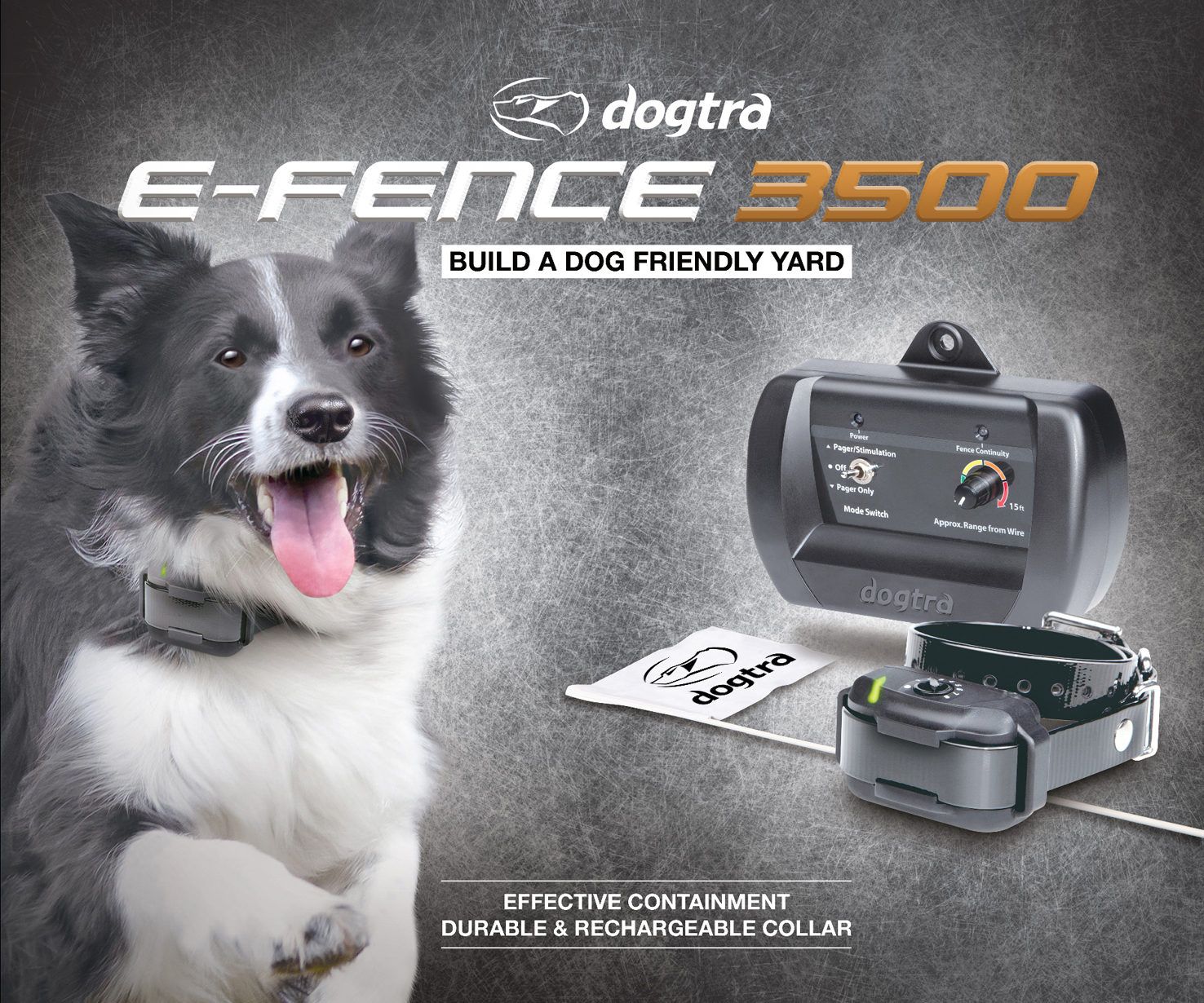 Collar Clinic Dogtra E Fence System Ef 3000 Gold Dogtra