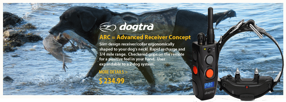 New Dogtra ARC-Advanced Receiver Concept-collar is shaped to dog's neck
