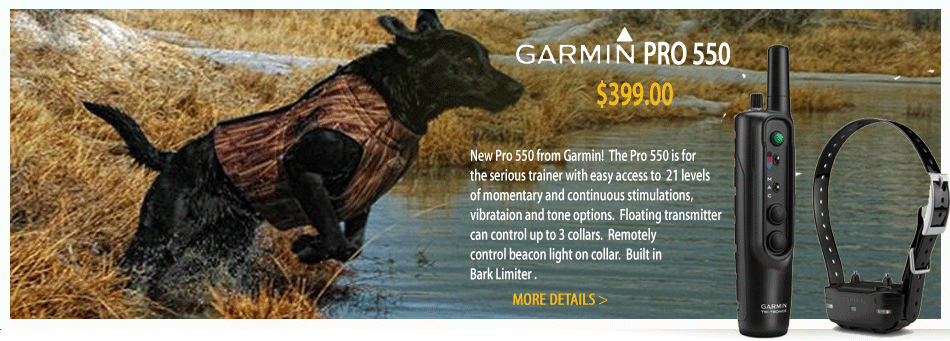 Retriever Garmin PRO 550 trainer